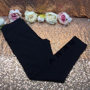 DKNY Black Logo Leggings,  L
